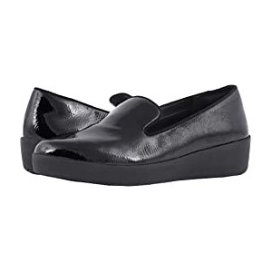Audrey Crinkle Patent Smoking Slippers