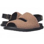 Wool Jersey Furry Stitch Sandal Camel