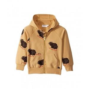 Guinea Pig Zip Hoodie (Toddler/Little Kids/Big Kids) Beige