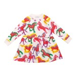 Painted Horse Sweatshirt Dress (Toddler/Little Kids/Big Kids)