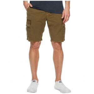 Stretch Sateen Cargo Shorts Olive Night