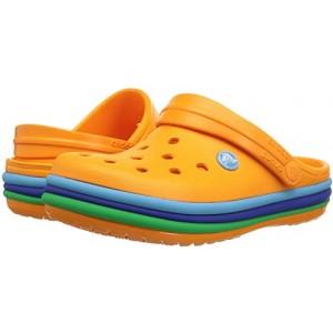 Crocs Kids Crocband Rainbow Band Clog (Toddleru002FLittle Kid) Blazing Orange