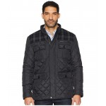 Mixed Media Multi-Pockets Quilted Jacket