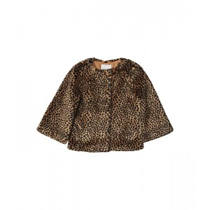 Faux Fur Animal Print Coat (Toddler/Little Kids/Big Kids)