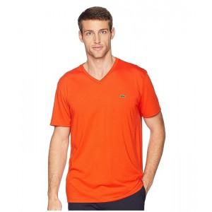 Short Sleeve V-Neck Pima Jersey T-Shirt