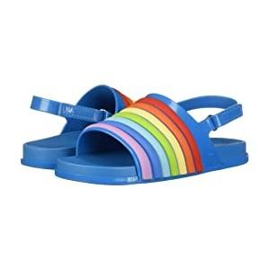 Mini Beach Slide Sandal Rainbow (Toddler/Little Kid) Blue Colorful
