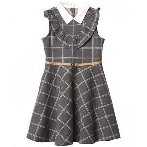 Windowpane Ponte Dress (Toddler/Little Kids/Big Kids)