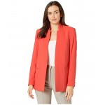 Soft Suiting Long Open Jacket Grenadine