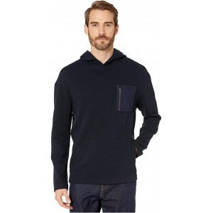 Easy Fit Textured Hoodie with Chest Pocket K3210V4