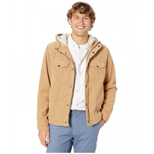 Levis Corduroy Two-Pocket Hoodie with Sherpa Tan