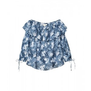 Plus Size Bleached Off-the-Shoulder Top