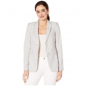 Stripe Two-Button Jacket Khaki Multi