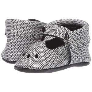 Chrome Honeycomb Mary Jane (Infant/Toddler) Silver/Black