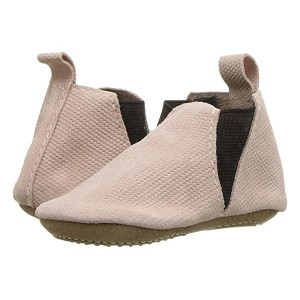 Blush Knit Chelsea Boot Mini Sole (Infant/Toddler) Pink/Brown