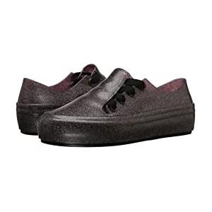 Mel Ulitsa Sneaker (Little Kid) Black Glitter
