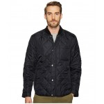 Transitional Quilted Nylon Jacket with Rib Knit Collar Black