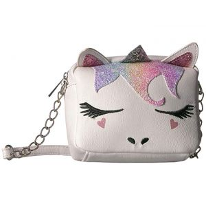 Rainbow Glitter Unicorn Crossbody White