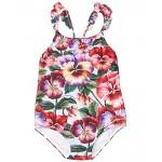 Dolce & Gabbana Kids Intero Swimsuit One-Piece (Toddleru002FLittle Kids) Violette Fdo Azzurro