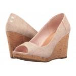 Stella Wedge Pale Pink Lurex Woven