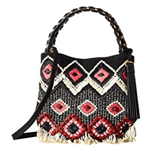 Brooke Embellished Small Hobo Black