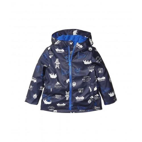 Skipper Waterproof Rubber Coat (Toddler/Little Kids) Navy Happy Camper
