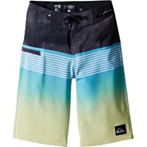 Highline Lava Division Boardshorts (Big Kids) Cyan Blue