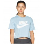 Sportswear Essential Crop Top Leche Blue/Leche Blue/White