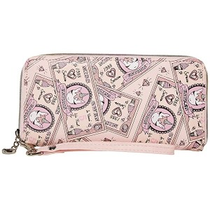 Money Print Wallet Pink