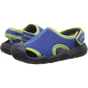Crocs Kids Swiftwater Sandal (Toddleru002FLittle Kid) Blue Jean/Navy