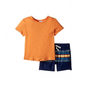 Print Short Set (Infant) Atomic Orange