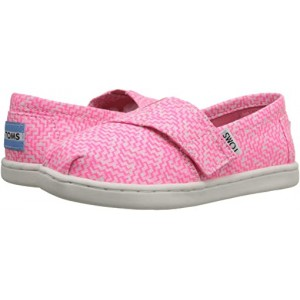 TOMS Kids Seasonal Classics (Infantu002FToddleru002FLittle Kid) Neon Pink Printed Textile