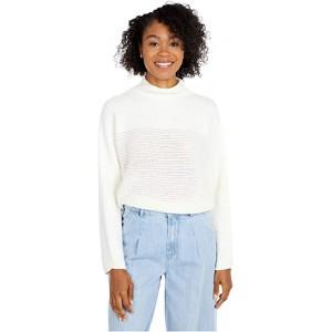 Mock Neck Long Sleeve Sweater Ivory