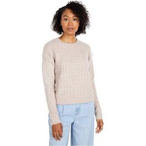 Crew Neck Long Sleeve Sweater Light Lavender