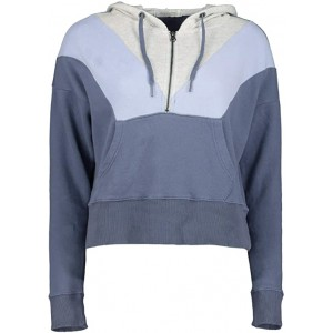 Mod-o-doc Cashmere French Terry Color Block 1u002F2 Zip Hoodie Indigo Ink Color Block