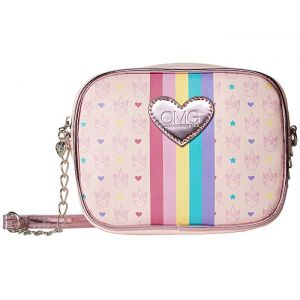 Unicorn Logo Print Crossbody Pink