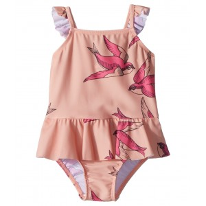 Swallows Skirt Swimsuit (Infant/Toddler/Little Kids/Big Kids) Pink