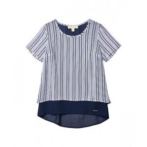 Petite Airy Hampton Stripe Short Sleeve Top