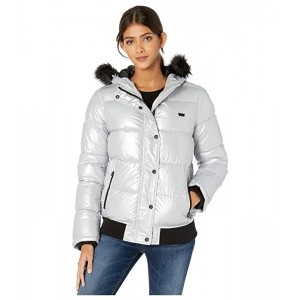 Arctic Cloth Shortie Parka with Faux Fur Hood