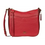 Color-Block Leather Contrast Trim Chaise Crossbody