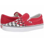 Classic Slip-On (Checker Flame) Racing Red/True White