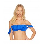 Modern Solids Ruffle OTS Underwire Bikini Top Blue