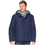 Oxford Rain Zip Front Jacket Navy