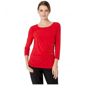 3/4 Sleeve Knit with Lacing Rouge