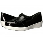 Fringey Sneaker Loafer Black Patent