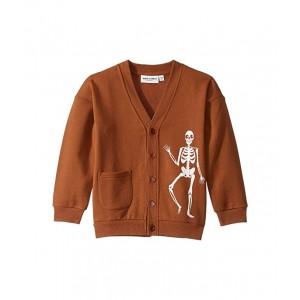 Skeleton Cardigan (Toddler/Little Kids/Big Kids) Brown