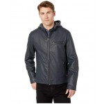 Racer with Quilted Shoulder Navy