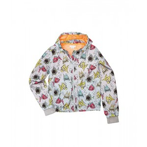 Stella McCartney Kids Angry Fish Transitional Jacket (Toddleru002FLittle Kidsu002FBig Kids) Grey Multi