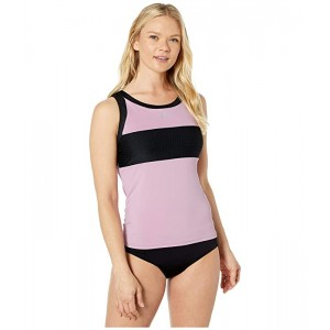 Nike Solid Splice High Neck Tankini Frosted Plum