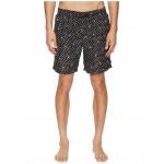 Mid Length Polka Dot Swimsuit Boxer w/ Bag White/Black