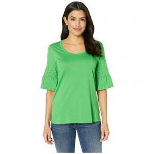 Laced Sleeve Flare Tee Clover